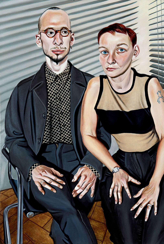 Norbert Wagenbrett, Paar, 1999, Öl auf Leinwand, 150 x 100 cm