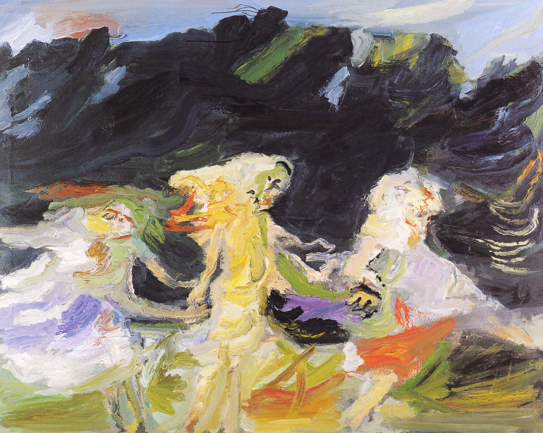 Ralf Kerbach, Der Reigen, 1993, Öl auf Leinwand, 150 x 190 cm