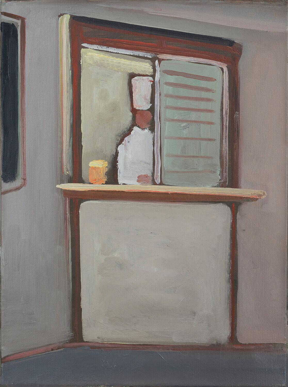 Ralf Kerbach, ICE-Koch, 2012, Öl auf Leinwand, 49 x 38 cm