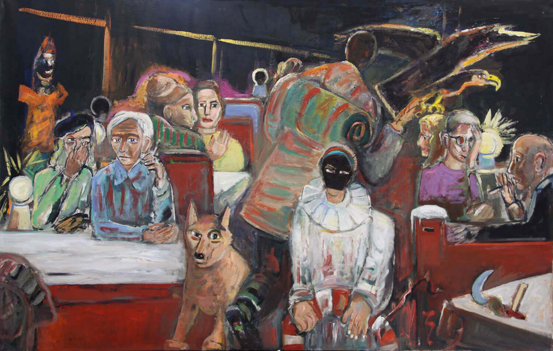 Ralf Kerbach, Nachtzug, 2012, Öl auf Leinwand, 150 x 230 cm