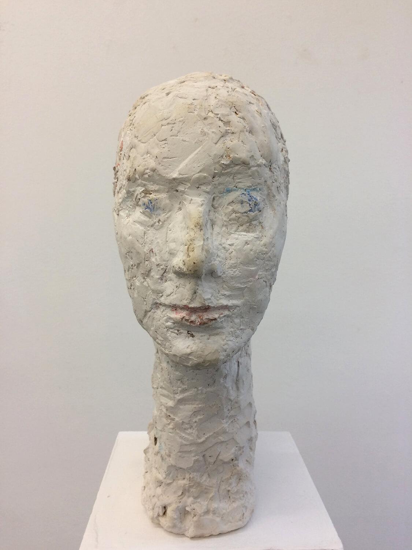 Sabina Grzimek, Annette Tietz, 2018, Gips, farbig gefasst, Höhe 43,5 cm