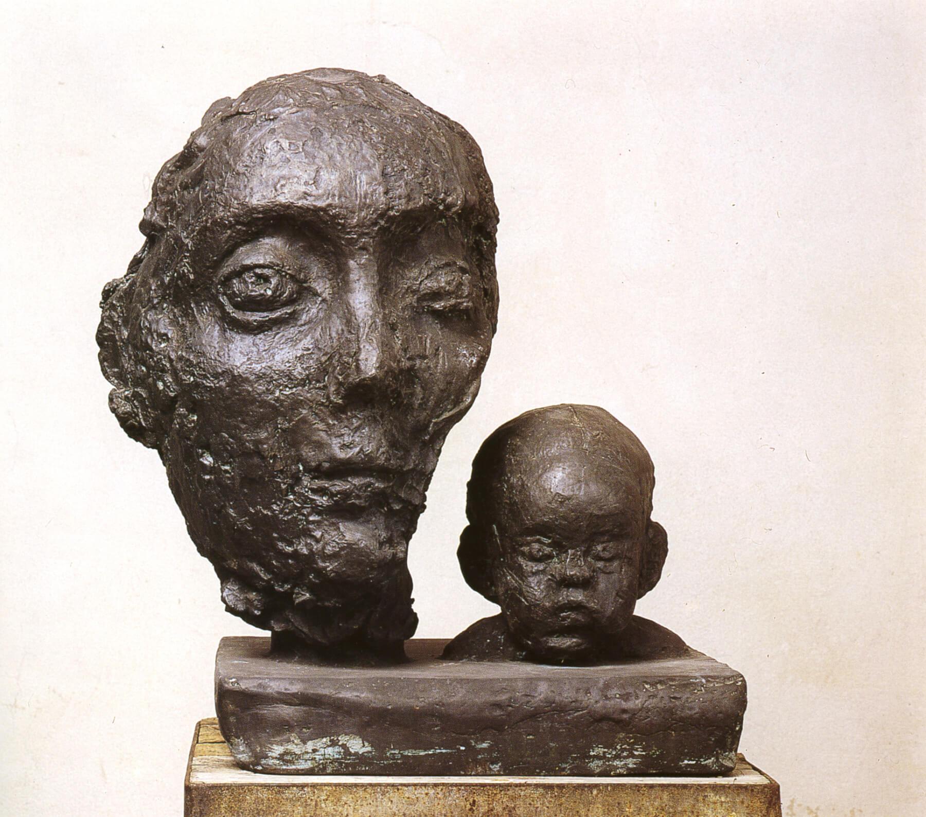 Sabina Grzimek, Doppelporträt, 1974/1976, Bronze, 51 x 44 cm