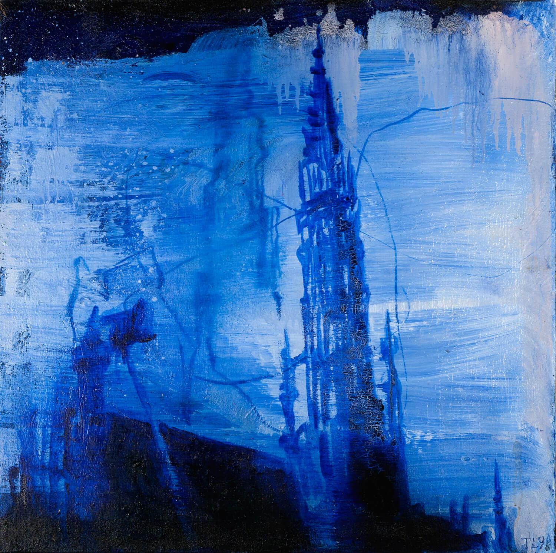 Thomas Lange, Brüssel C, 1998, Öl auf Leinwand, 65 x 65 cm