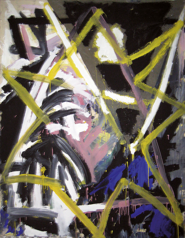Thomas Lange, Rosa Winkel, 1980, Acryl auf Zelttuch, 160 x 130 cm