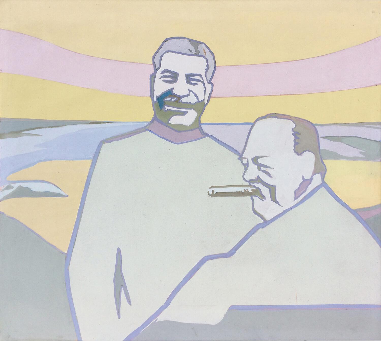 Ulrich Baehr, Sonnenuntergang am Schwarzen Meer, 1967, Leimfarbe auf Leinwand, 135 x 150 cm