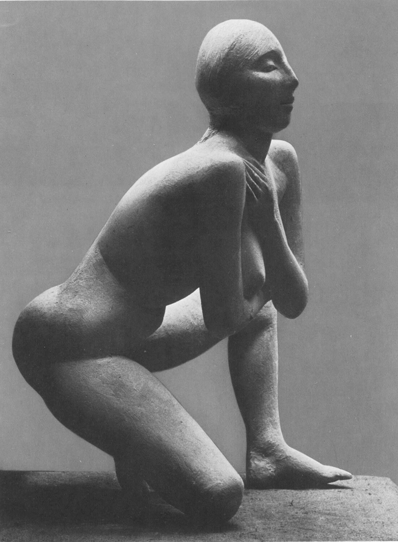 Waldemar Grzimek, Kauernde, 1959, Bronze, 1 Guss, Höhe 90 cm