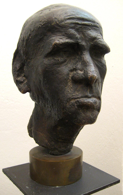 Waldemar Grzimek, Porträtkopf Otto Dix, Fassung III, 1966, Bronze, Auflage: 4, Höhe 45 cm