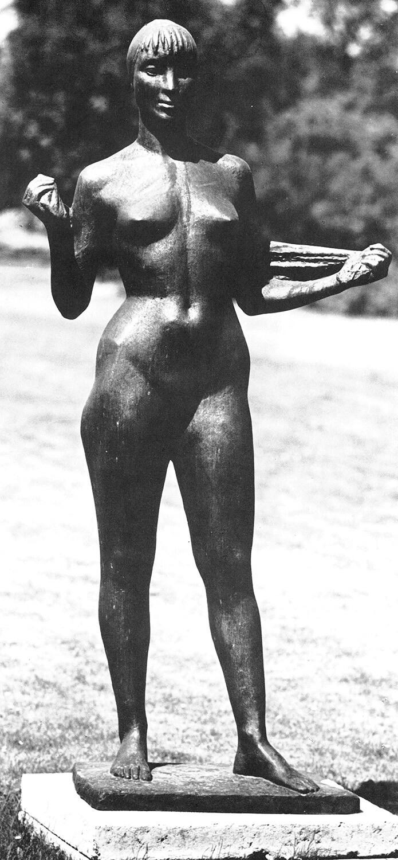 Waldemar Grzimek, Schwimmerin, 1959, Bronze, Auflage: 3, Höhe 170 cm