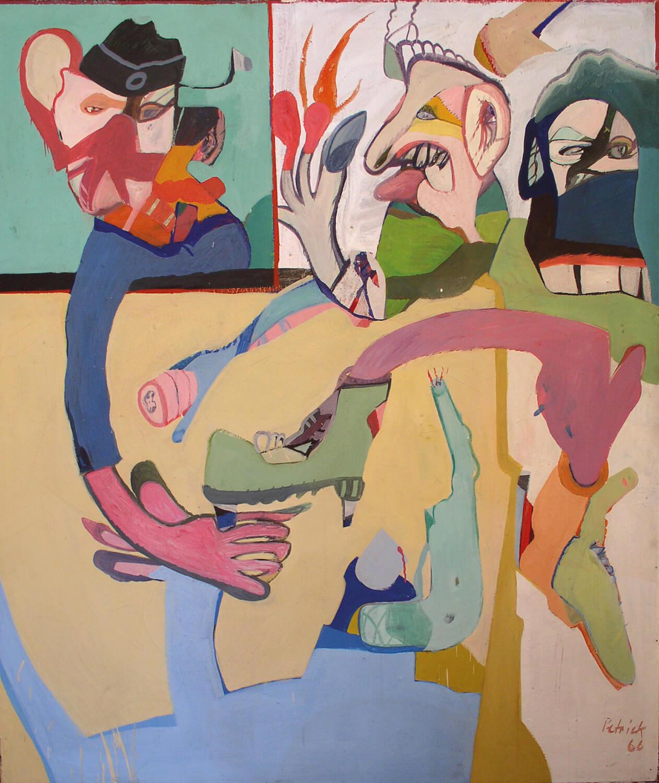 Wolfgang Petrick, Ein langer Grüner,1966, Acryl auf Leinwand, 140 x 121 cm